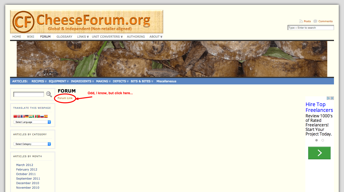 Where to find the cheese forum forum