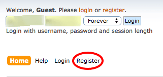 Registering with the cheese forum