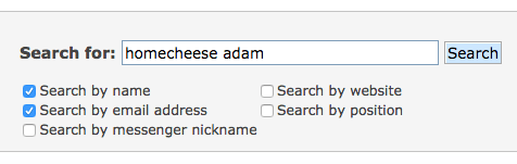 search for members on the cheese forum